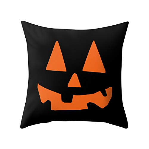 Akabsh Halloween Pillowcase Polyester Sofa Car Seat Cover Witch Pumkin Print for Home Decoration 45 X 45CM (Pumkins Witch)