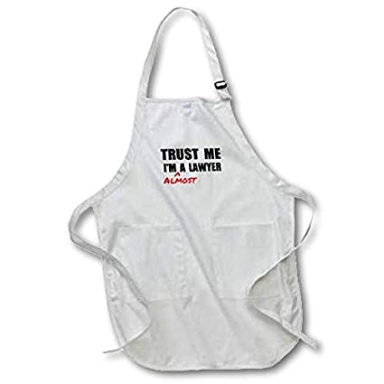 22 by 24-Inch 3dRose apr/_195659/_2 Trust Me Im a Wizard Funny Ironic Humor Humorous Fun Joke Irony Medium Length Apron with Pouch Pockets