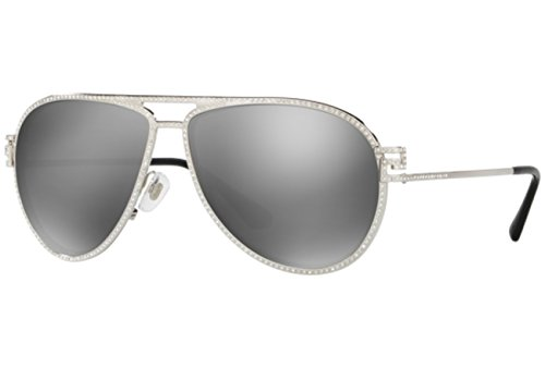 Versace Women's VE2171B Sunglasses Silver / Gray Mirror Silver - Sunglasses 2171