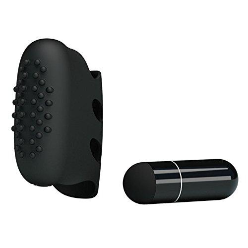 Women Silicone Finger Vibrator Waterproof Pricky Clit Stimulator Finger Sleeve G-spot Finger Vibrator Single Speed Sex Adult Toys