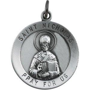 Argent sterling 18,25mm Médaille St. Nicholas