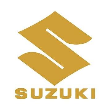10 centimetri. effetto cromo Suzuki logo replica decal moto sticker adesivo prespaziato senza fondo in vinile colore argento metallico specchiato