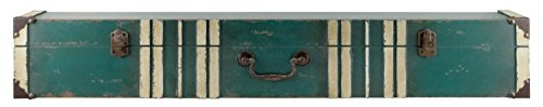 MCS 36 Inch Vintage Suitcase Wall Shelf, Green (45885)