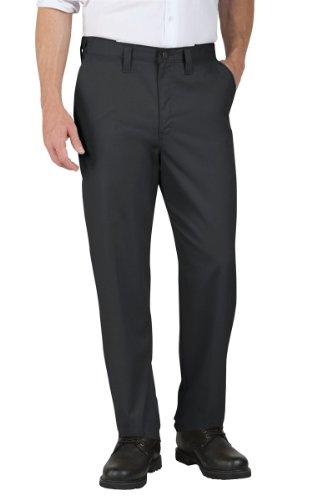 Dickies Occupational Workwear LP700DC 42x32 Polyester/ Cotton Relaxed Fit Men's Premium Industrial Flat Front Comfort Waist Pant with Straight Leg, 42