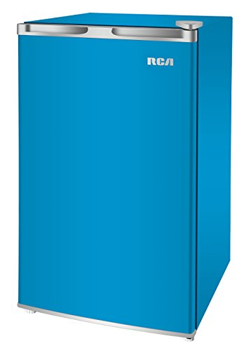 RCA RFR321-FR320/8 IGLOO Mini Refrigerator, 3.2 Cu Ft Fridge, Blue (Renewed)