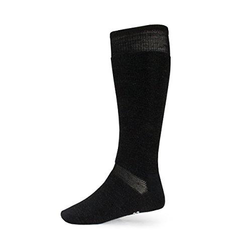 Minus33 Merino Wool Ski and Snowboard Sock, Charcoal, Small (Girls Boots Snowboarding)