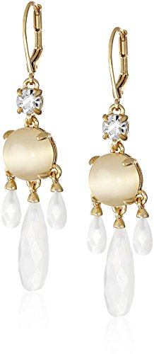 (kate spade new york Semi Precious Chandelier White Earrings)