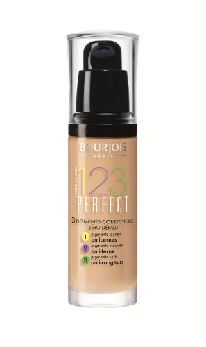 Bourjois Fond de Teint 123 Perfect Foundation for Women, # 54 Beige, (Bourjois Beige Foundation)