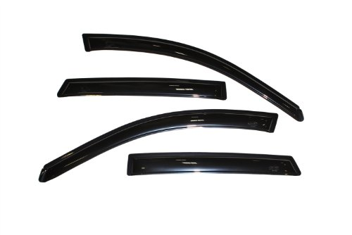 - Auto Ventshade 94455 Original Ventvisor Side Window Deflector Dark Smoke, 4-Piece Set for 2003-2008 Pontiac Vibe/Toyota Matrix