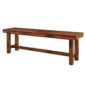 W. Designs Dark Oak Bench
