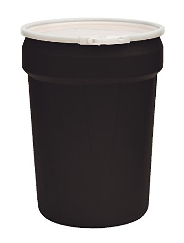 Eagle 1601BLK Black Drum with Open Head Tapered Plastic Band, 30 gal Capacity