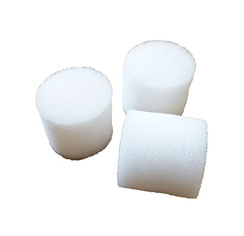 "JpGdn Hydroponics Seed Growing Media Cylindric Sponges 1.2x1.3"" for 1.8"" Net Cup Pots Basket Pack of 100"