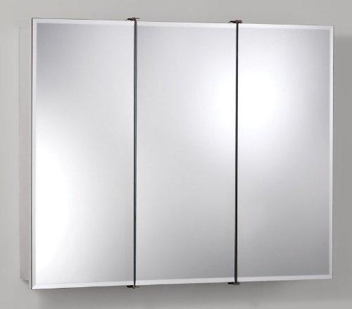 Jensen Medicine Cabinet Ashland Tri-View 36W x 28H in. Surface Mount Medicine Cabinet 755288