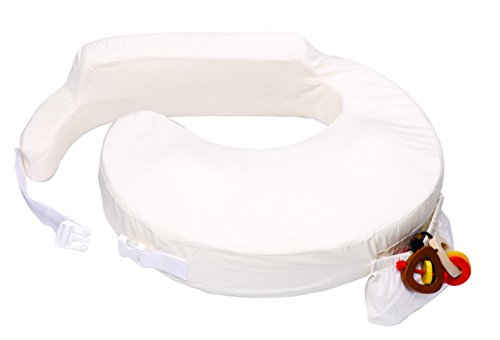 My Brest Friend Original Nursing Posture Pillow with White Organic Cotton Slipcover (Best Friend Nursing Pillow)