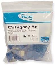 Icc Ic107E5Cbl Blue Ez 25Pk Cat5 Jack