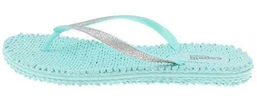 Capelli New York Damer Mote Flip Flops Med Fint Glitter Trim Mynte