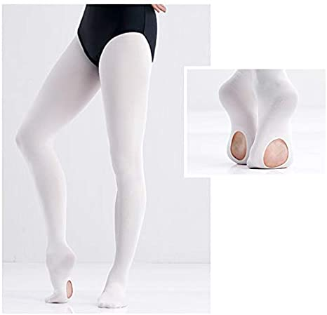 Dance Convertible Ballet Tights for Girls CADITEX Ultra Soft Ballet Ballet Footed Tights with Holes