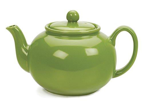 RSVP Green Stoneware Chai Teapot product image