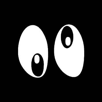 amazon com googly eyes cartoon vinyl decal sticker 15 x 12