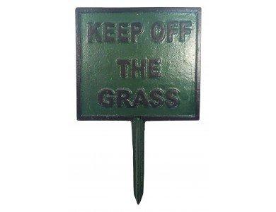 CAST IRON KEEP OFF THE GRASS SIGN goaa.co.uk M3083
