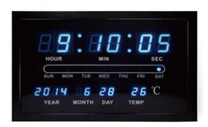 [Smart reloj digital] [negro] reloj de mujer con esfera reloj de pared