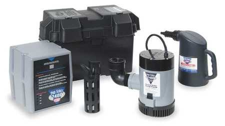 Battery Backup Sump Pump, High Capacity