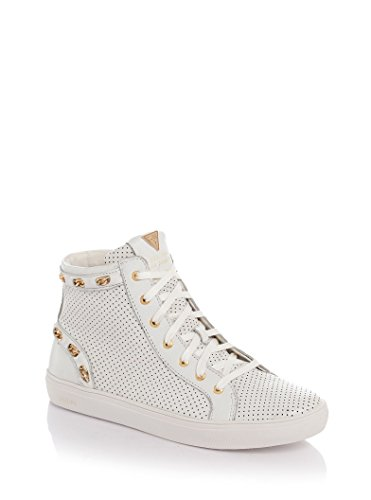 Scarpe Sneakers Donna Guess Mod. YARO PERFORATED SNEAKER FL2YARLEA12 Col. Bianco.