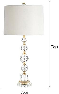 ZfgG - Lámpara de mesa minimalista moderna Rhombus cristal ...