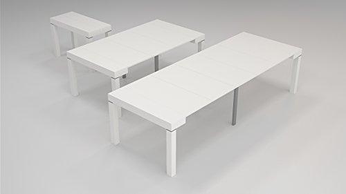 Legno Bianco Frassinato : Tavolo legno moderno allungabile consolle bianco frassinato 110x50