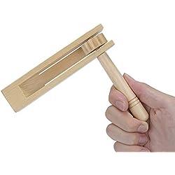 Madera Spinning Rattle Ratchet Ruido Maker Tradicional Matraca Juguete para Juegos, Fiestas y Deportes