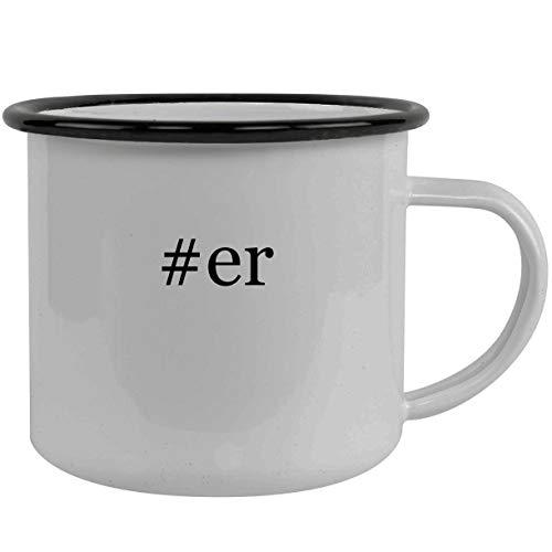 #er - Stainless Steel Hashtag 12oz Camping Mug, Black