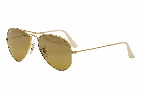 New RAY BAN Sunglasses Authentic RB 3025 001/3K Brown Mirror Silver Gradient Aviator - Silver Mirrored Ray Ban Aviators