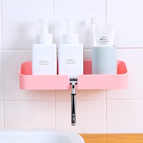 MSOO Plastic Bathroom Kitchen Corner Storage Rack Organizer Shower Shelf ()