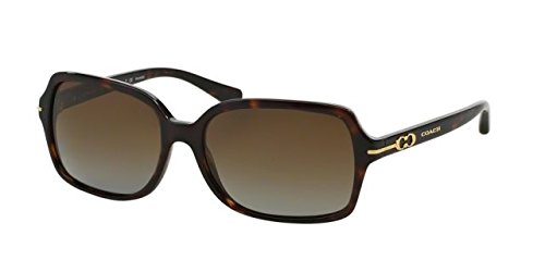 Coach Womens Blair Sunglasses (HC8116) Tortoise/Brown Acetate - Polarized - - Coach Sunglasses Tortoise