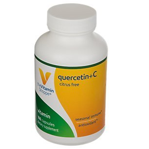 The Vitamin Shoppe Quercetin + Vitamin C, Citrus Free, Antioxidant That Supports A Healthy Immune for All Seasons (100 Capsules) (Quercetin C Vitamin)