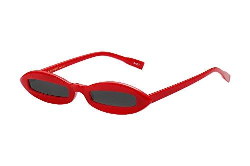 UV - Fashion Plastic Small Frame Black Lens Aviator style Sunglasses for Women - Aviators Small Best Face For