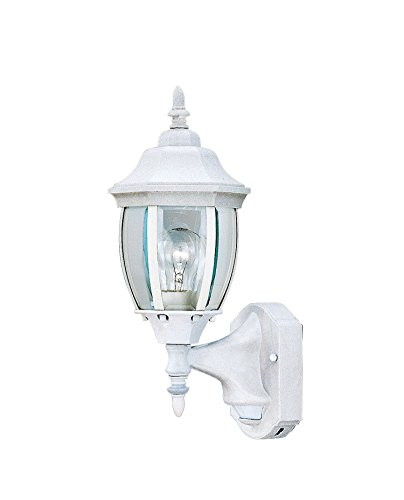 Cast Aluminum Ceiling Fixture - Designers Fountain 2420MD-WH Tiverton 6 Inch Wall Lantern - Motion Detector