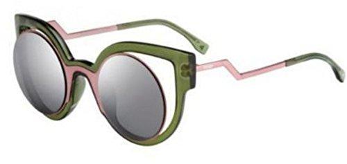 Fendi PARADEYES FF 0137/S NTA/CN Pink Palladium/ Dark Gray Mirroed Sunglasses