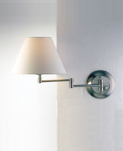 Holtkotter Satin Sconce - Holtkotter 8164 SN KPRG One Light Swing Arm Wall Sconce, Satin Nickel Finish with Kupfer Regular Shade