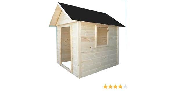 Cadema - Casita de madera de jardín para niños, 1,7 x 1,7 m ...
