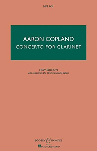 Concerto for Clarinet - New Edition: Clarinet and String Orchestra, with Harp and Piano by Boosey & Hawkes