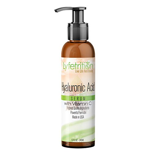 Beauty4Lyfe - 8oz large bottle - Hyaluronic Acid Serum with Vitamin C for Face - Deeply Moisturizing, Anti Aging, Vegan Collagen Boost, Hyaluronic Skin Serum - Nourishes Skin - for Men & Women (Best Anti Aging Serum For 30s)