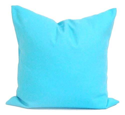Toll2452 Almohadas Decorativas de Color Azul sólido para ...