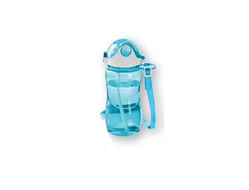 ERNESTO Leak Proof Fitness Bottle with Shoulder Strap - BPA Free Gym Drinks...