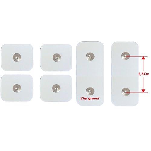 4+ 2électrodes pansements adhésifs patchs pièces détachées accessoires ceinture ABS a round Pro Around Gymform bouton Grand 4,4mm