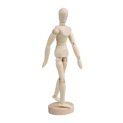 (Wooden Human Mannequin - TOOGOO(R)Wooden Human Mannequin 8 Inch Manikin Sketch Model Art/ARTIST Unisex Model)