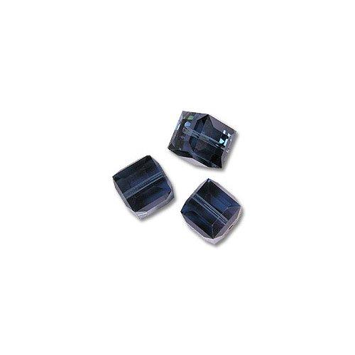Swarovski Cube Beads 5601 6mm Montana Blue (Package of 1)