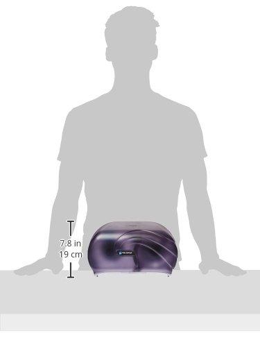 San Jamar R3690TBK Versatwin Double Roll Toilet Tissue Dispenser with Bio Pruf, Oceans, Black Pearl by San Jamar (Image #5)