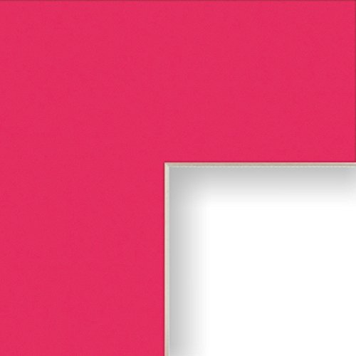 Craig Frames B800 11x14-Inch Mat, Single Opening for 8x10-Inch Image, Hot Pink with Cream Core