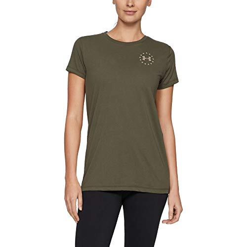 - Under Armour Freedom Flag T-Shirt, Marine OD Green//Desert Sand, Small